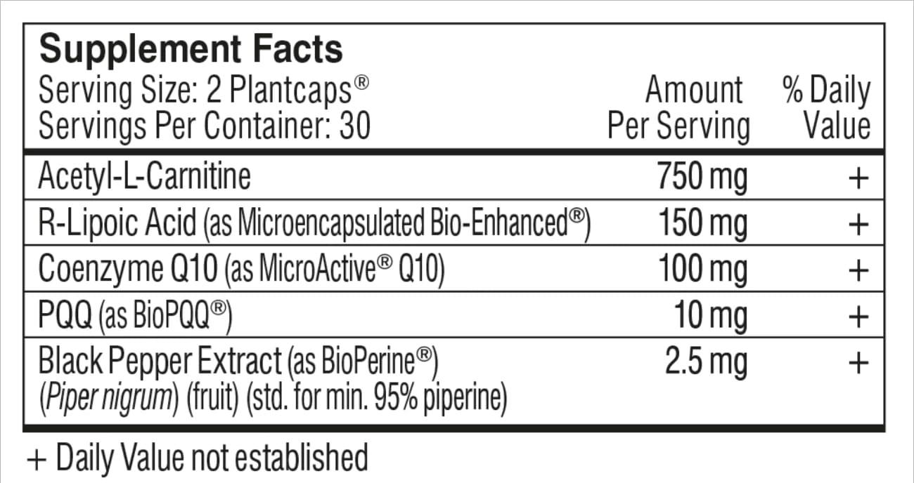 performance lab energy ingredients