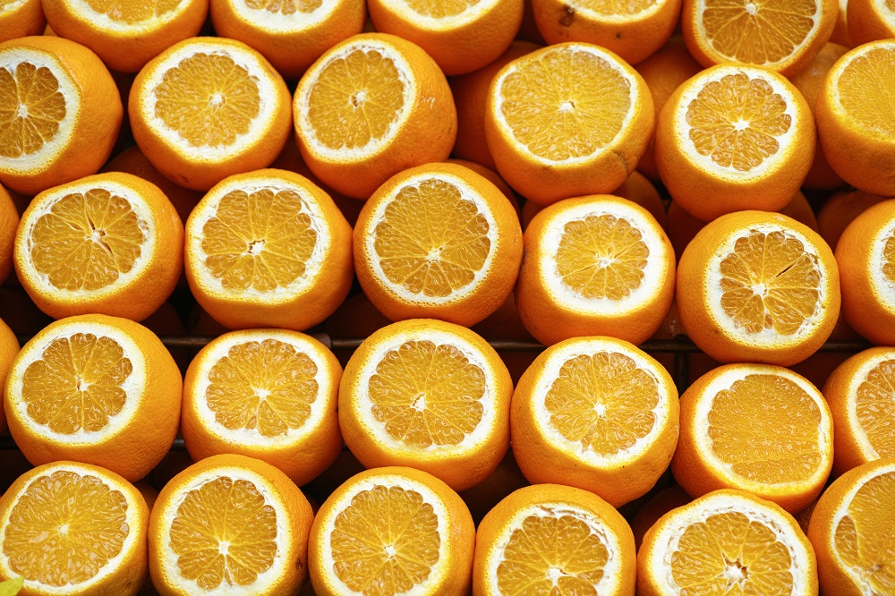 does eating oranges reduce stress