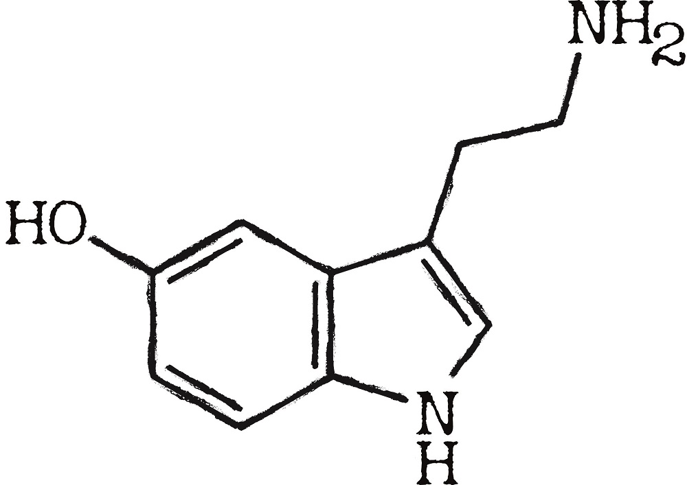 the chemical structure of serotonin