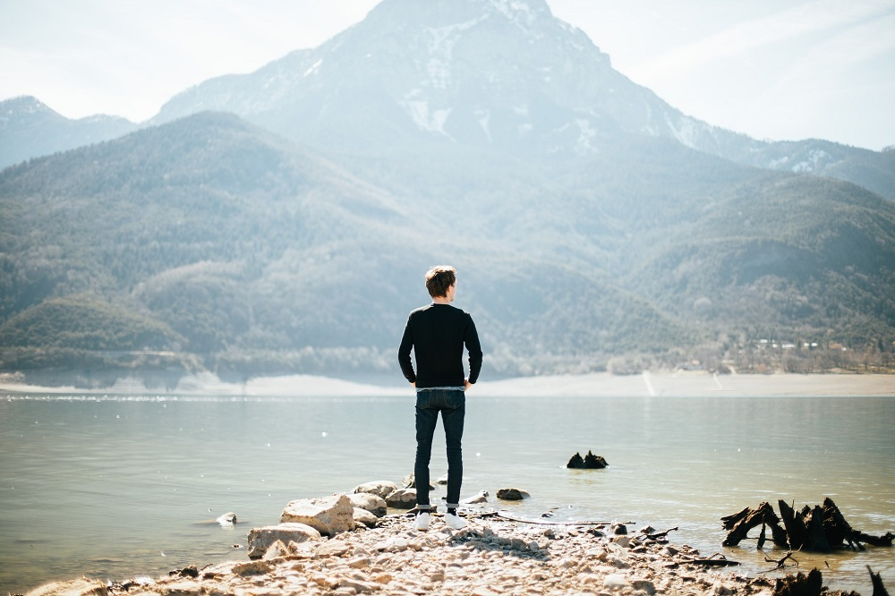 man standing outdoors in nature