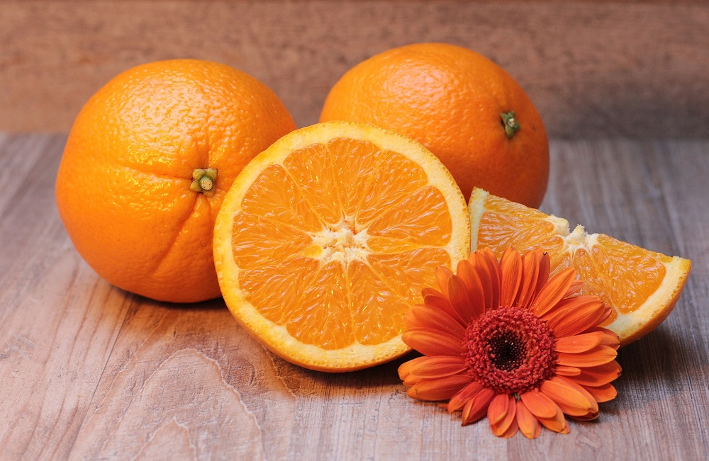 does smelling oranges relieve stress